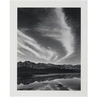 sierra nevada, winter evening from the owens valley, california [1962] by ansel adams